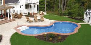 Inground Pools For Small Backyards Pin By Ware On Garden