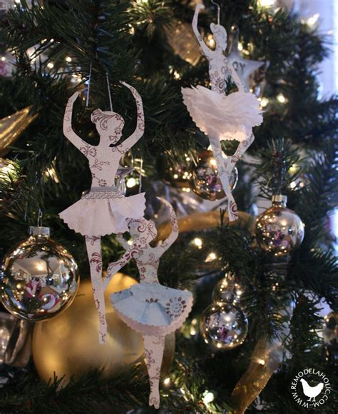 Ballerina Tree Decoration - 50 diy paper ornaments to create with the