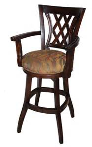 Wooden Swivel Bar Stools With Arms Wood Wooden Swivel Bar Stools
