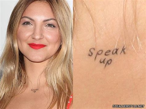 julia michaels writing neck tattoo steal her style