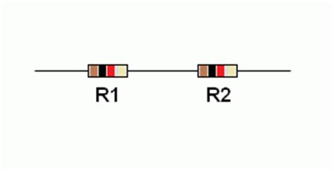 four 20 ohm resistors are connected in series resistors in series