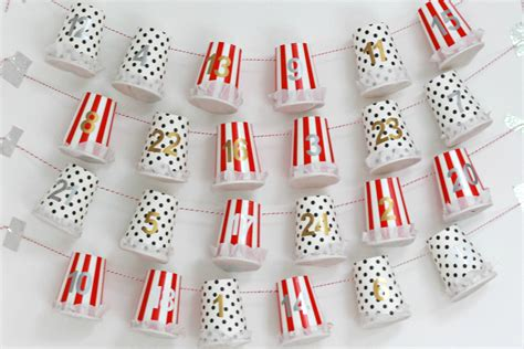 diy advent calendar tutorial paper cup advent pretty
