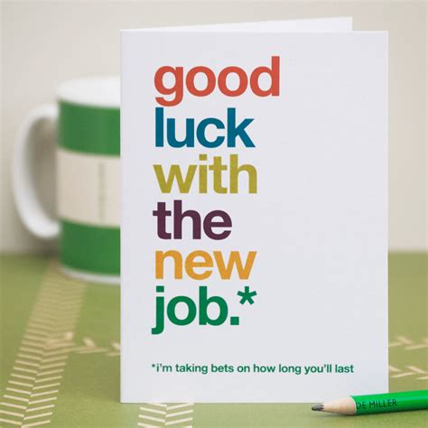 Employee Leaving Card Template by New Card Sarcastic New Card Witty New