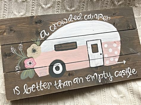 Handmade Signs Etsy - vintage cer cer sign painted wood sign