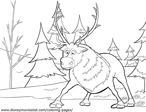 sven coloring page olaf and sven photo 36145922 fanpop