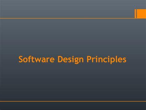 Application Design Basics | software design principles