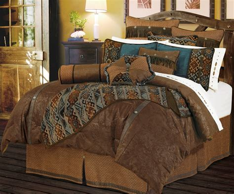 western bedding sets queen hxws4006q del rio western 5 pc comforter set queen