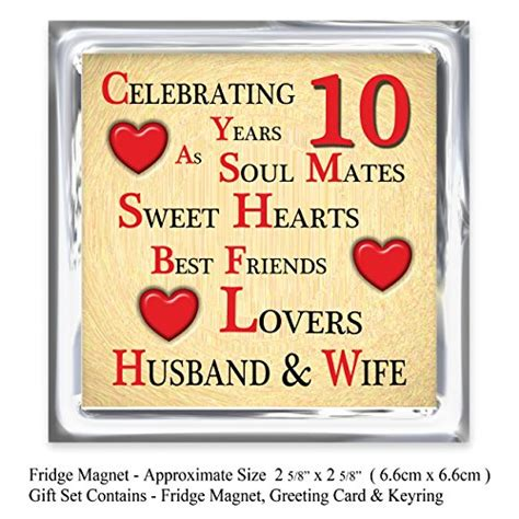 10th Wedding Anniversary Card Husband by 10th Wedding Anniversary Gifts For Husband India Imbusy