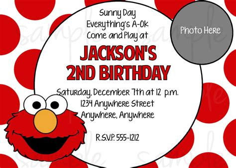Elmo Birthday Party Invitations Free Printable Elmo Birthday Invitations Template Free