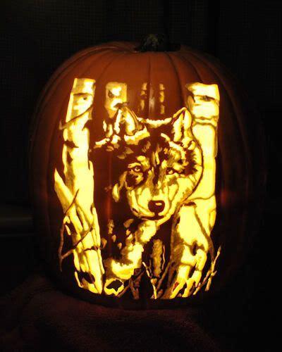 wolf pumpkin carving pattern  stoneykinscom pinteres