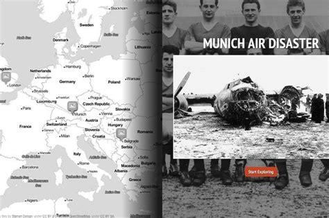 tom jackson manchester evening news interactive timeline 1958 munich air disaster