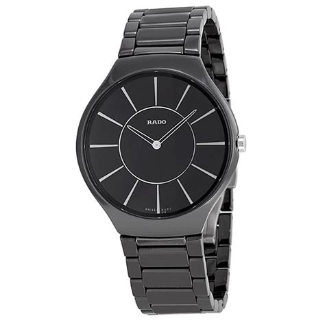 rado thinline black ceramic s r27741162