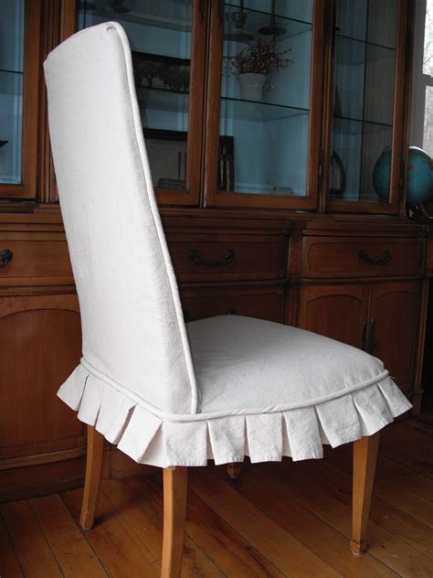 How To Cover A Dining Room Chair Potato Slipcovers Dining Chair Cover With Box Pleats Before After
