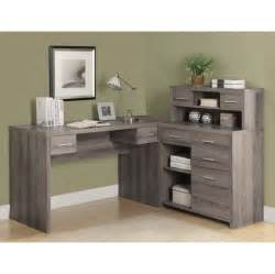 Office Desk With Hutch Storage Furniture Ash Gray L Shaped Office Desk With Storage And Hutch And Also Cool Desk L Some