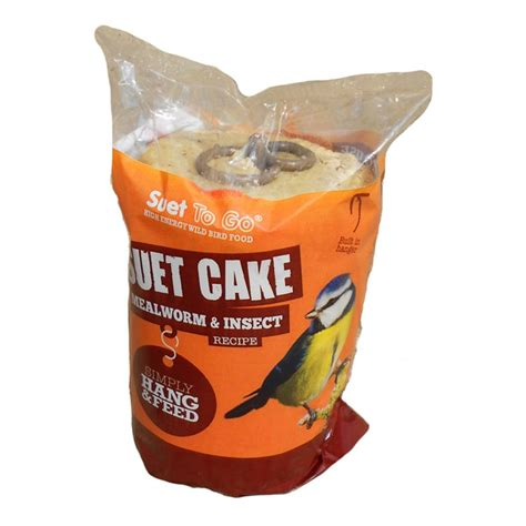 buy unipet suet to go cake with insect wild bird treat 350gm