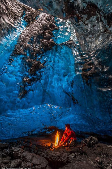 cave iceland photographer captures cave network beneath iceland s vatnajokull glacier daily mail