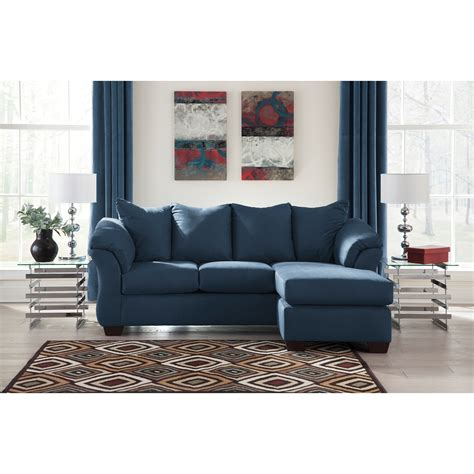 signature design by ashley darcy sofa chaise signature design by ashley darcy blue contemporary sofa