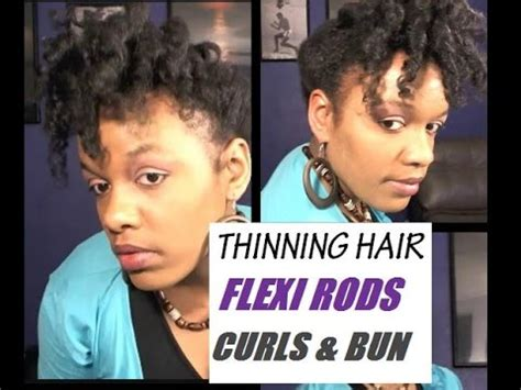 black hairstyles for with thinning hair hairstyles for thinning hair flexi rod curls