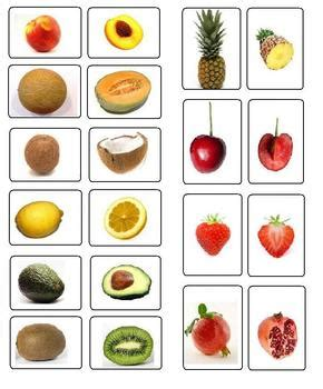 Match Com Gift Card - montessori fruit matching cards inside to outside science botany vocabulary