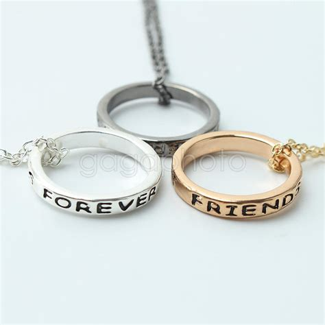 my friend cayla necklace not lighting up 3pcs best friend forever friendship alloy ring pendant