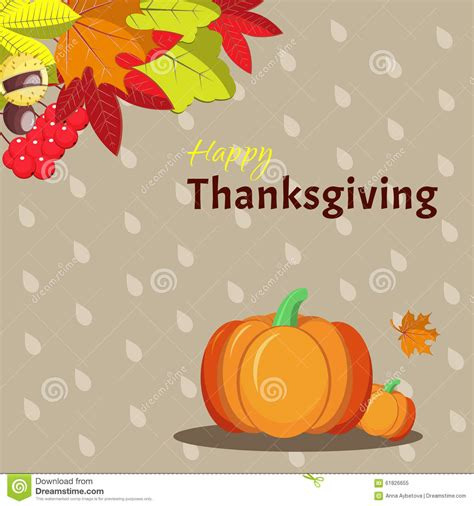 Thanksgiving Card Template Free Illustrator by Greeting Card Template For Thanksgiving Day Stock Image