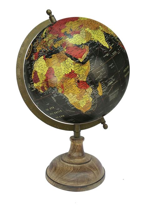 world globe home decor buy hand e crafts black multicolour red world globe with