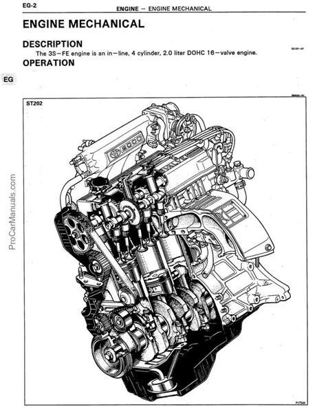 toyota  fe engine repair manual rm