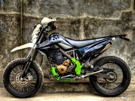 Klx Supermoto by Modifikasi Klx 150 Supermoto Mortech Panduan