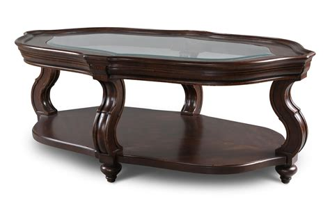 traditional coffee table traditional oval cocktail table with glass top by