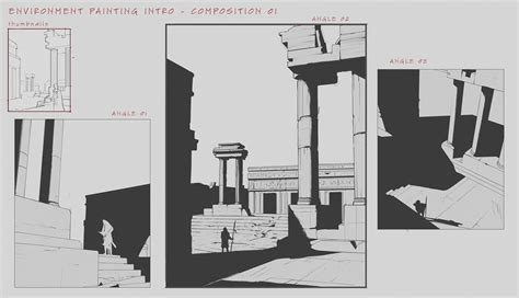 environment composition layout environment design composition studies by franklinchan on