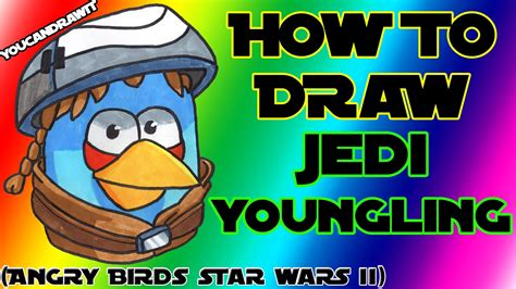 angry birds wars doodle activity annual 2013 how to draw jedi youngling bird from angry birds wars