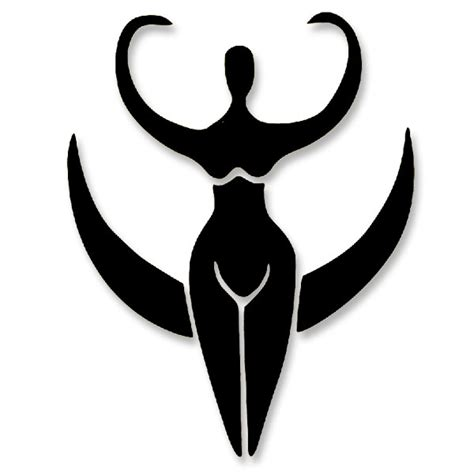 pagan moon goddess large vinyl cutout window sticker