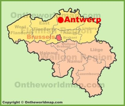 antwerp world map antwerp location map
