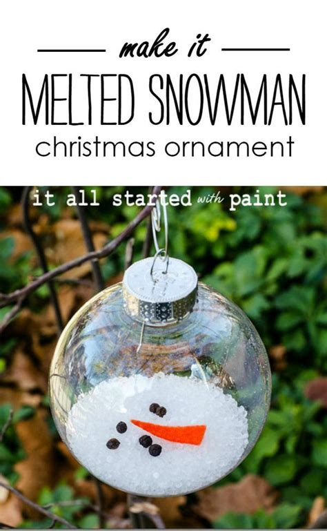 melted snowman ornament ideas  pinterest