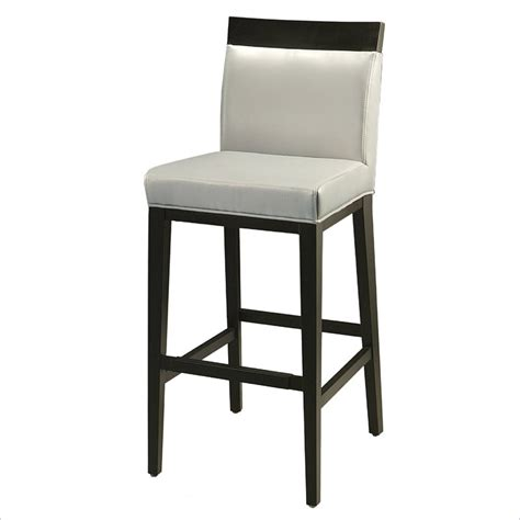 Grey Leather Bar Stool Pastel Furniture Elloise 30 Quot Bar Stool In Light Gray Leather Qleo210254841