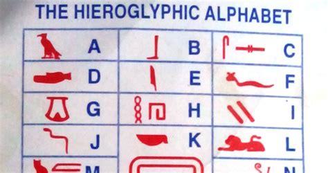 printable hieroglyphic alphabet chart the oldest alphabet found written in stone