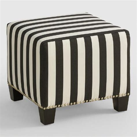 black and white striped ottoman canopy stripe mckenzie ottoman world market