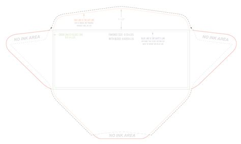 free die cut templates envelope die cut template just b cause