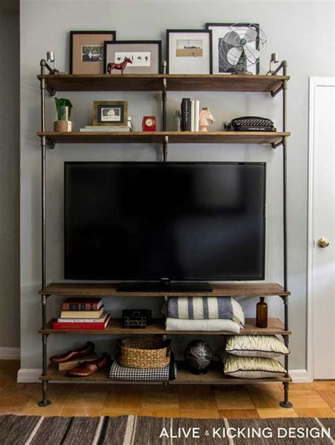 entertainment shelving units 50 creative diy tv stand ideas for your room interior