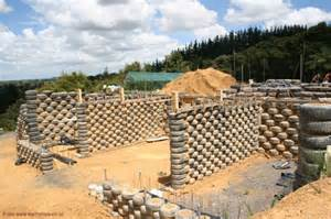 Much of the materials used to build earthships are recycled for
