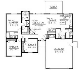 home plan design 100 sq ft bungalow style house plan 3 beds 2 baths 1437 sq ft plan