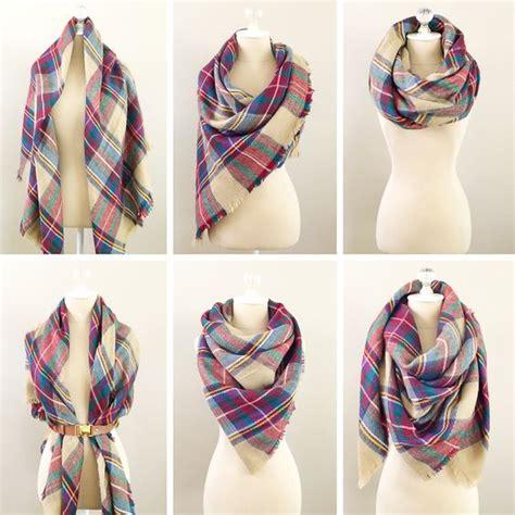 tutorial ways to wear a scarf 6 ways to wear a blanket scarf how to tie a blanket scarf