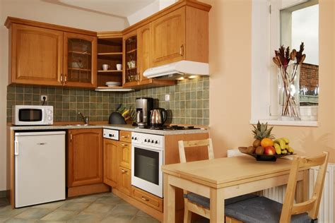 Kitchen Sink And Cabinet by 2 Room Apartment 706 Apartments Prague Hotel