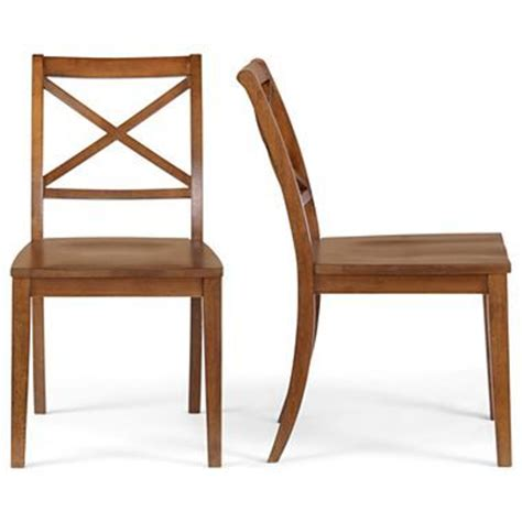 elwood set of 2 roll top parsons dining chairs