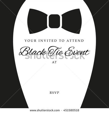 Black Tie Stock Images Royalty Free Images Vectors Shutterstock Black Tie Event Program Template