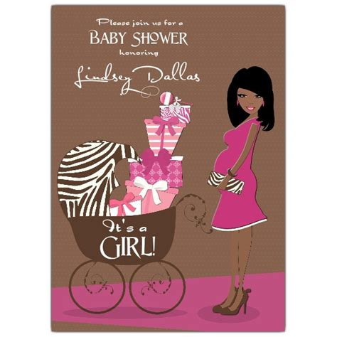 brown baby shower invitations american pink brown baby shower