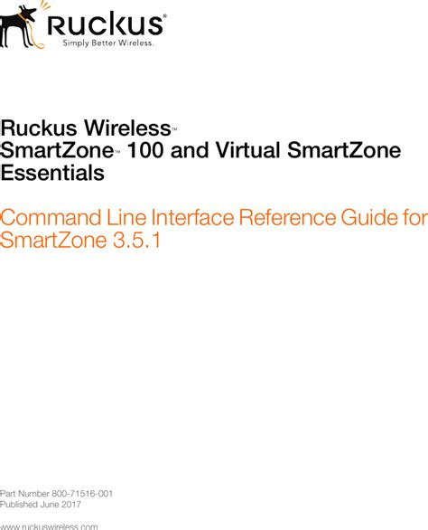 ruckus sz   vsz  command  interface reference
