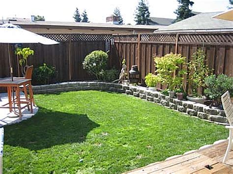 Yard Landscaping Ideas On A Budget Small Backyard Simple Backyard Design Ideas