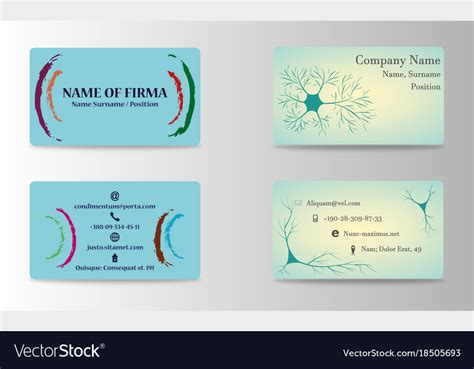 creative business card print templates set of creative business card print templates vector image