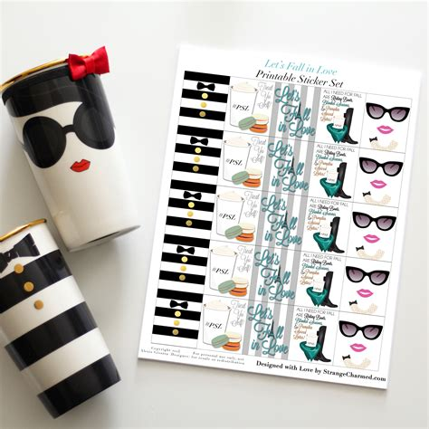 How To Make A Sticker Out Of Paper - let s fall in printable planner bundle strange